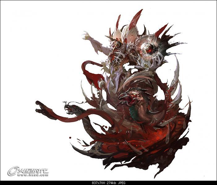 恶魔王角色草图