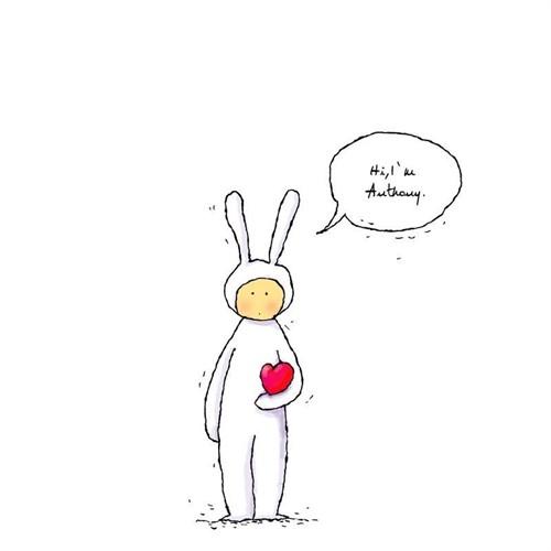 兔子不二头像手绘