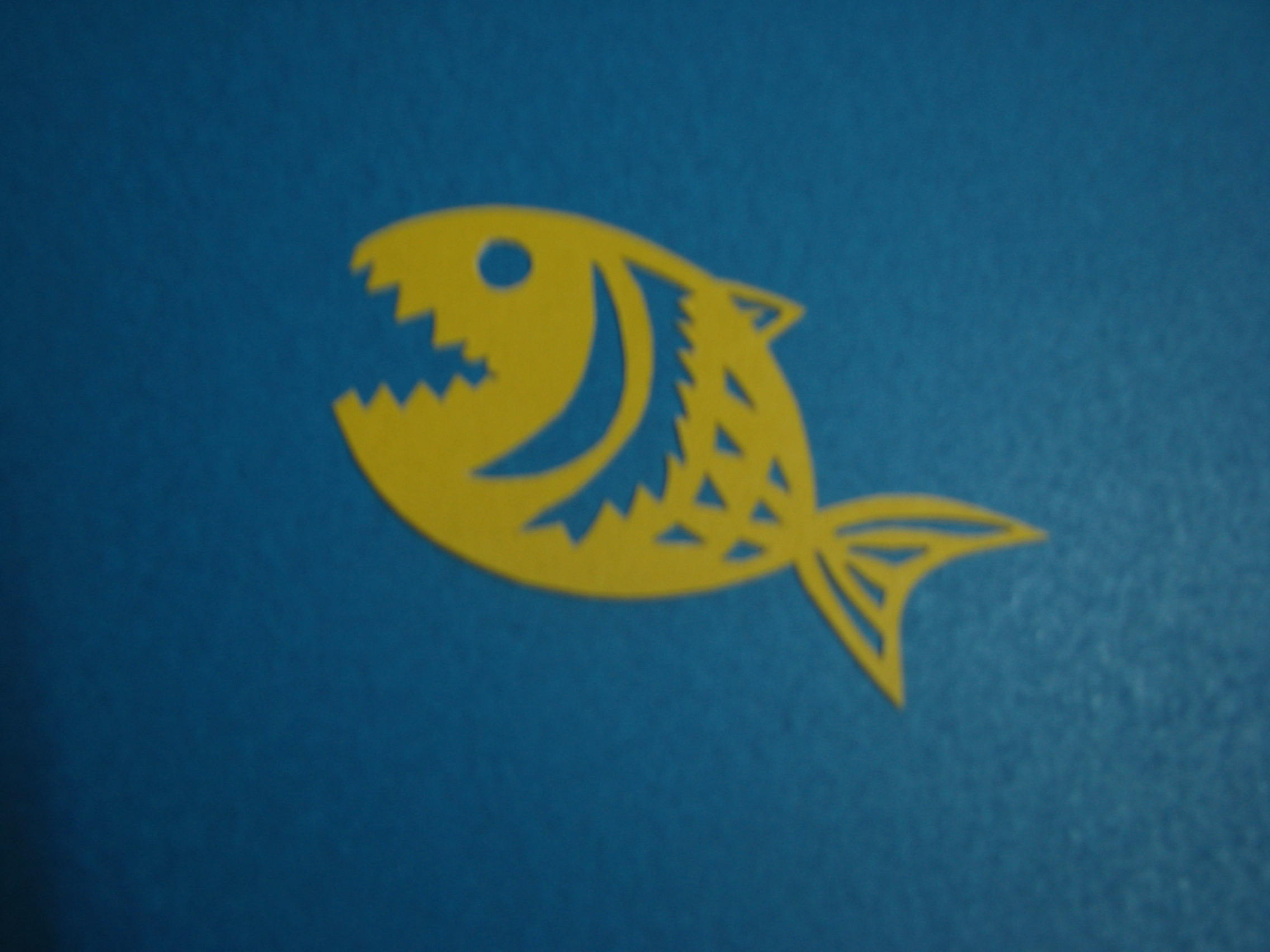小鲨鱼可爱书签