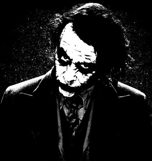 可爱小丑图片黑白