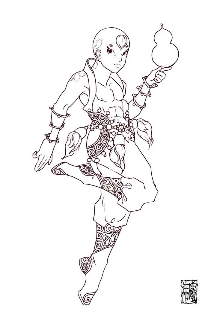 手绘7个葫芦简笔画