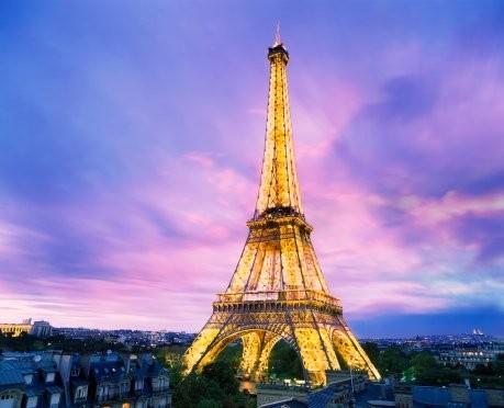 埃菲尔铁塔图片紫