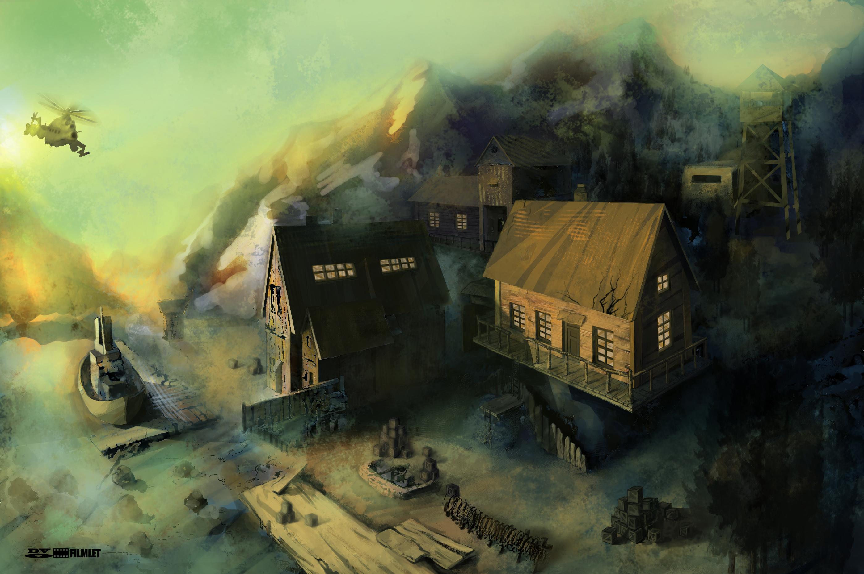 动画小镇场景设计