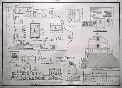 英国小镇建筑铅笔手绘