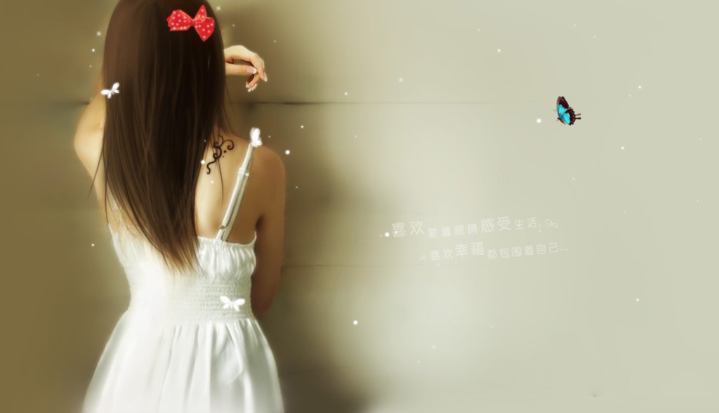 美女背影生活照壁纸