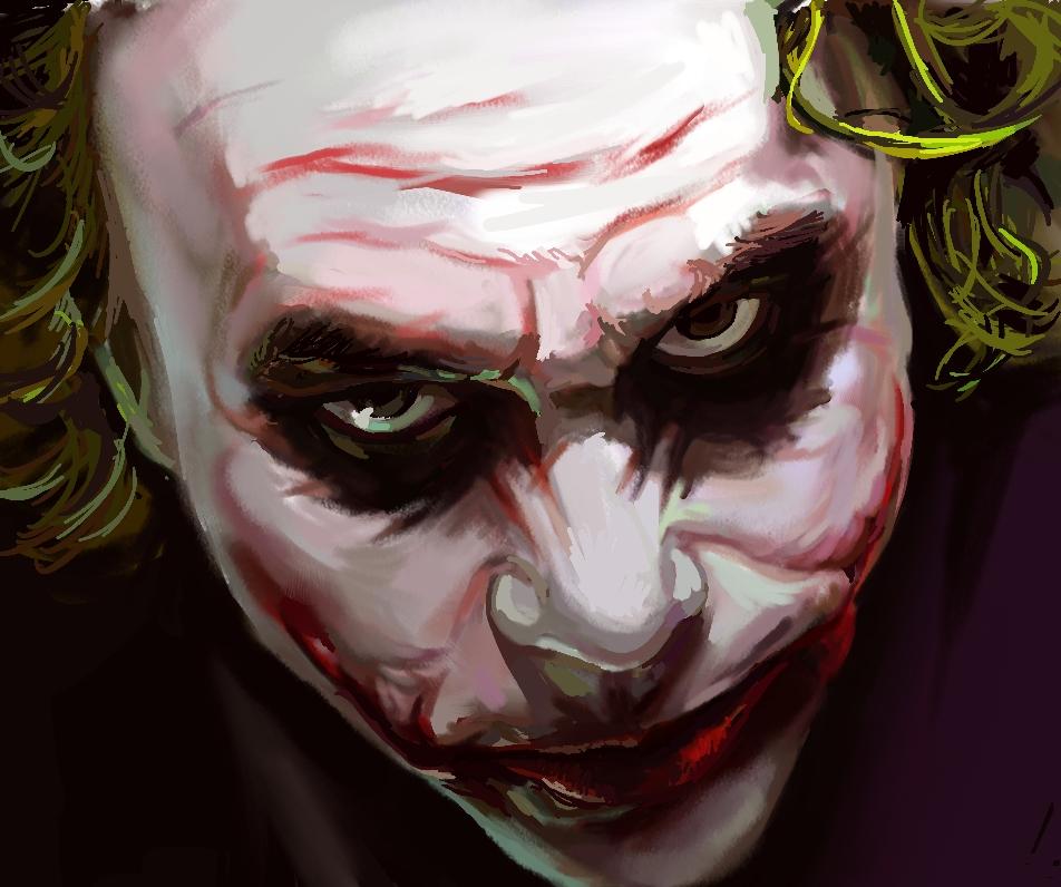 全脸小丑面具手绘图片