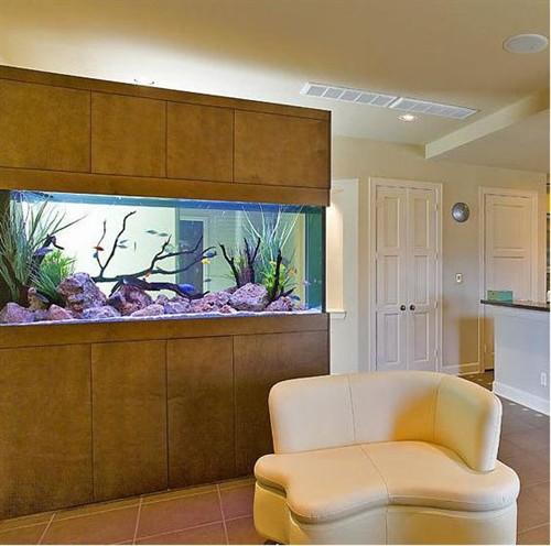 居家客厅鱼缸效果图2