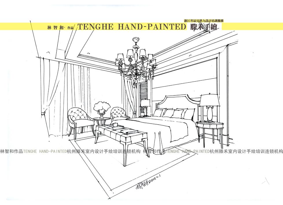 11卧室欧式风格滕禾手绘