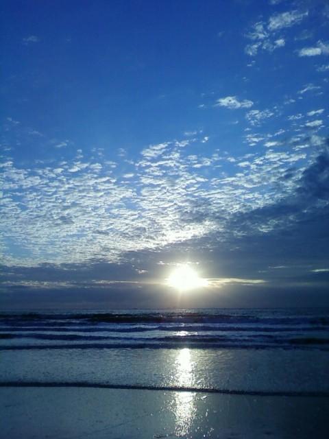 竖屏大海日出壁纸