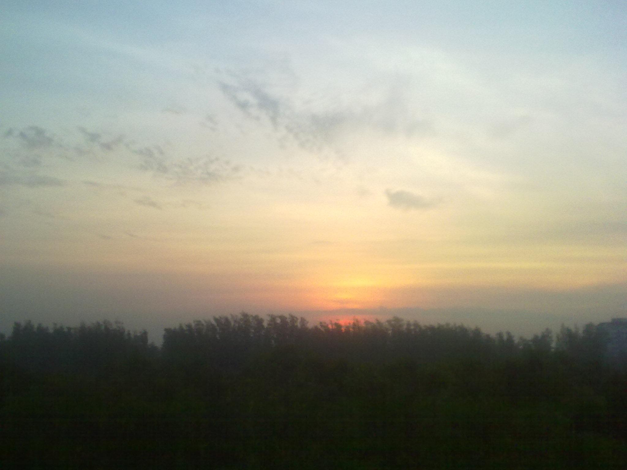 朝阳背景微信头像男