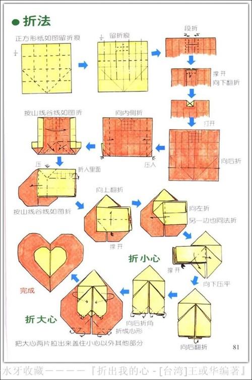 简单心的折法步骤图