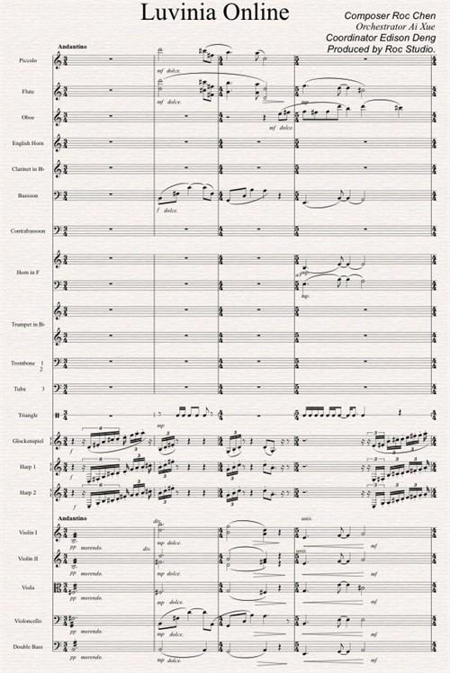 作品的管线乐队乐谱–