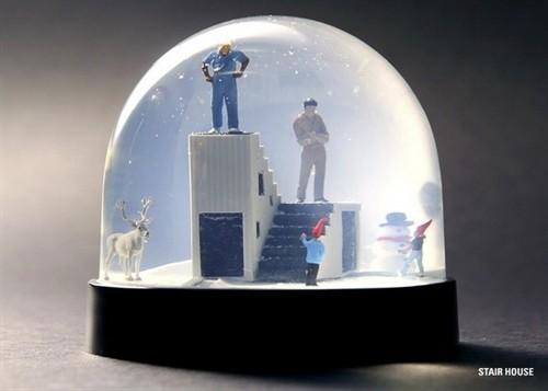 圣诞礼物来了,各种风景的雪景水晶球