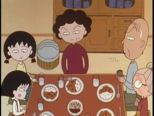 一家人吃饭卡通