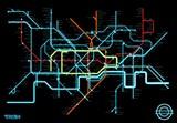 《创:战纪》风格伦敦地铁线路图