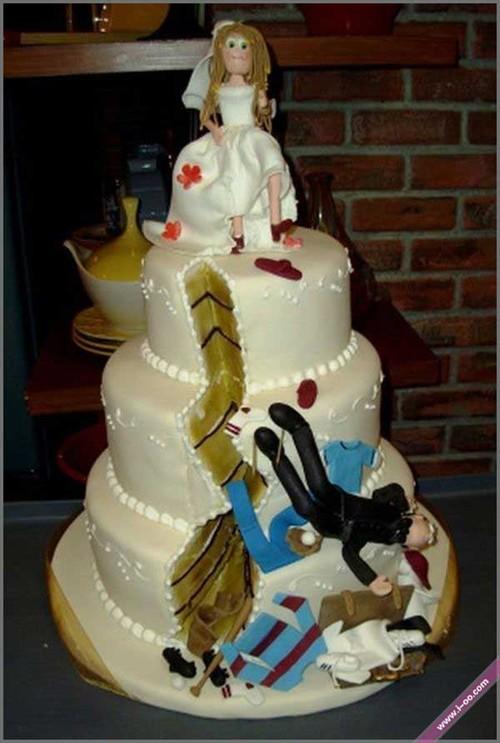 原来这才是真正的重口 这货是结婚蛋糕