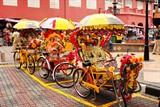马六甲荷兰广场的花车