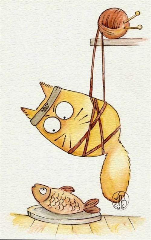 [群组游园会图贴]手绘,猫咪的情绪