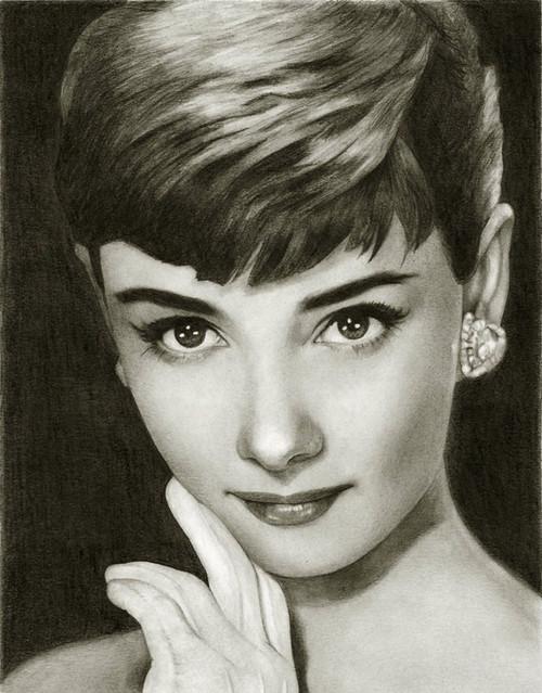 明星铅笔画奥黛丽·赫本