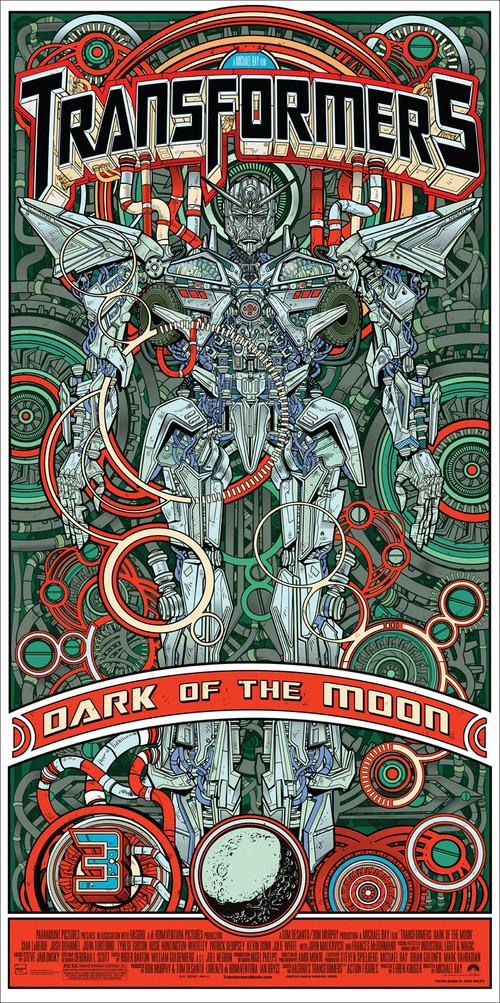 《变形金刚3》Mondo海报-红绿版