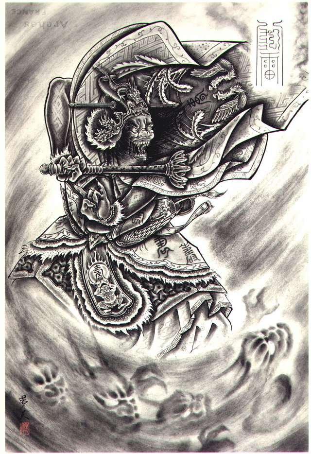 鬼纹身手稿大全图片 花臂纹身图案大全手稿 纹身手稿大全-纹身图案图片