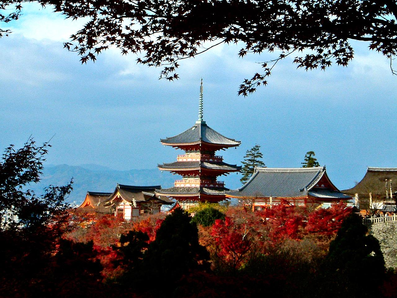 日本手绘风景海报