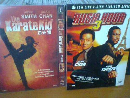 我收藏的成龙电影dvd