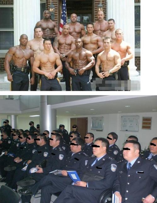 美国警察和中国警察