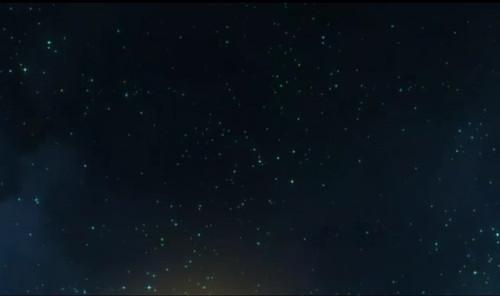 在星空相逢图片手绘