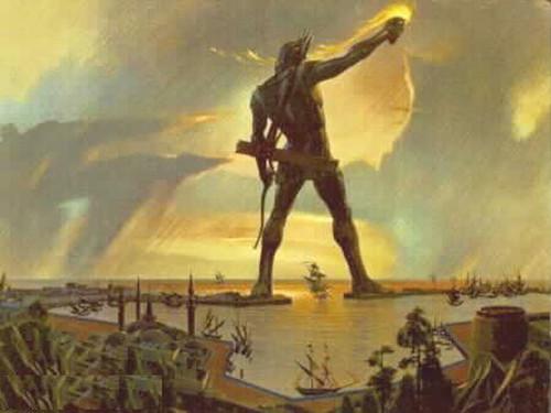 青铜巨像 罗德岛太阳神巨像,原世界七大奇迹之一.这座