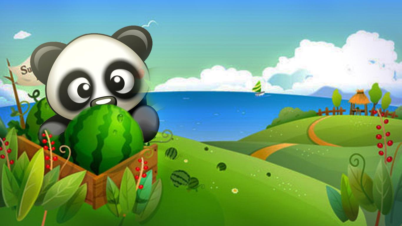 偷西瓜的熊猫
